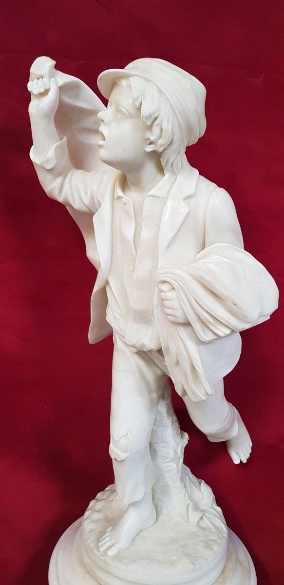 Gavroche Sculpture Marbre  -photo-6