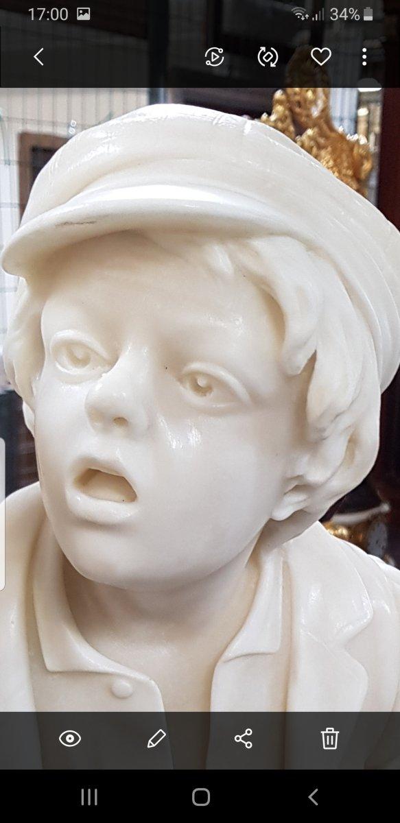 Gavroche Sculpture Marbre  -photo-7