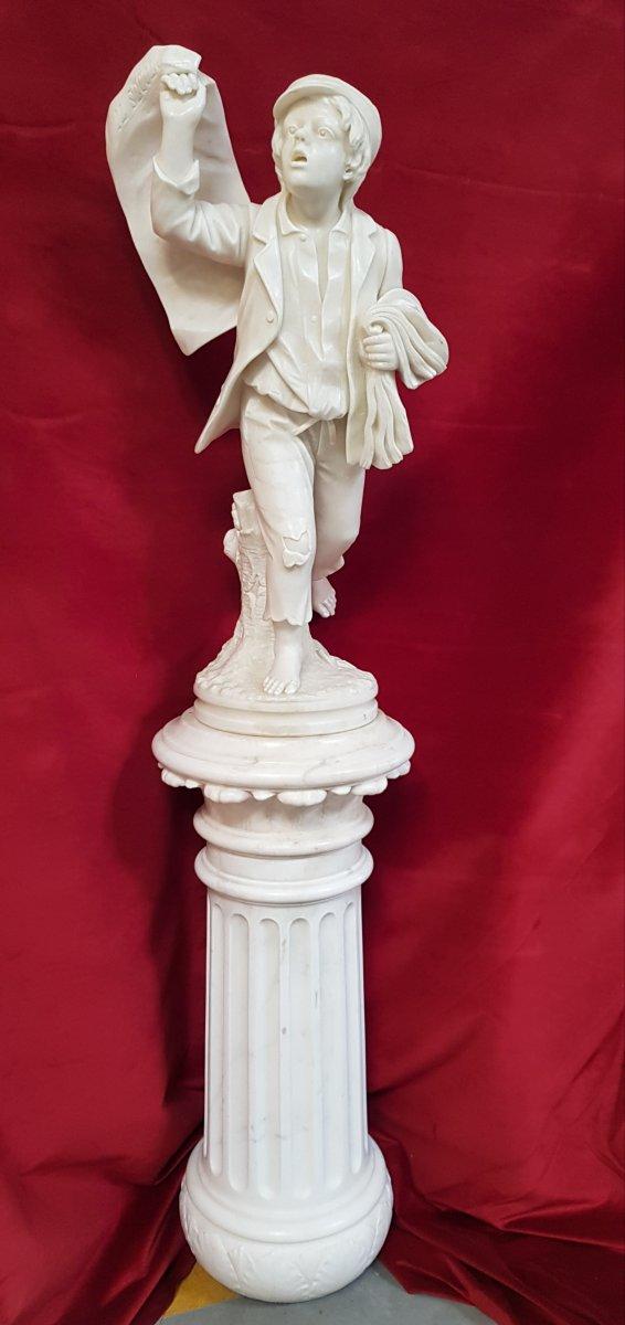 Gavroche Sculpture Marbre