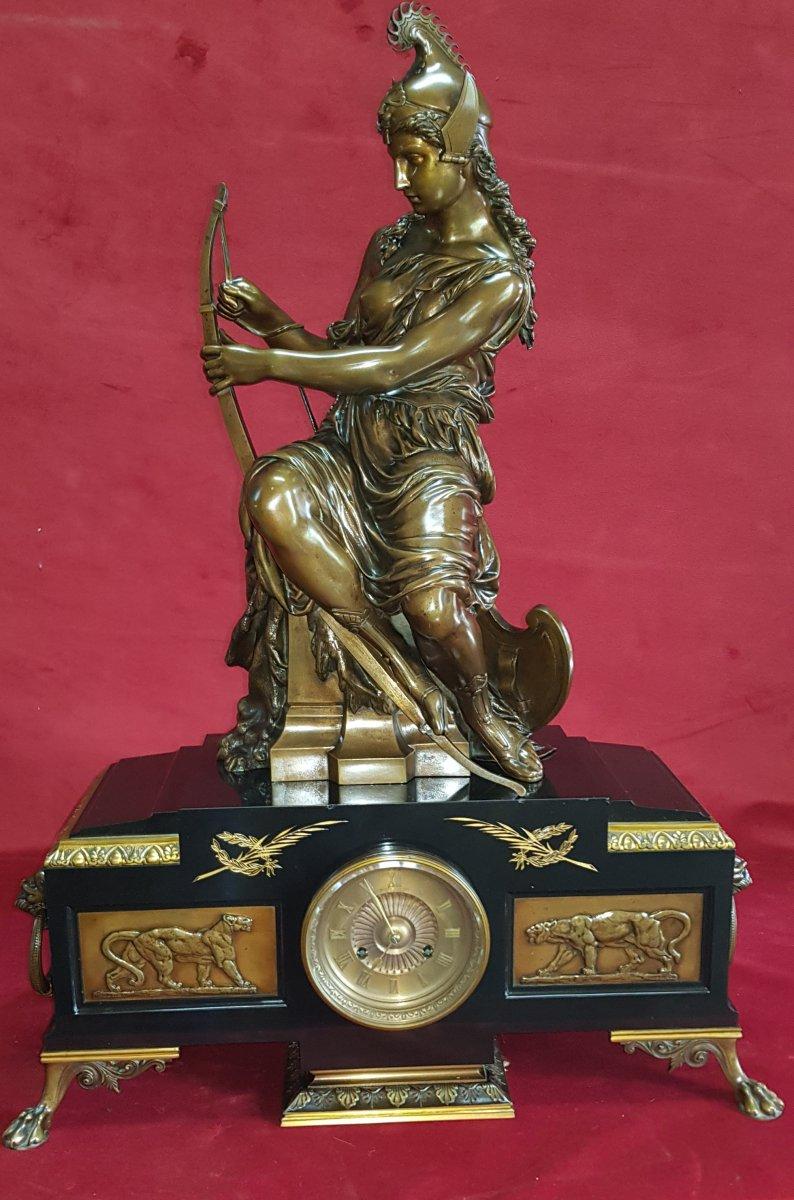 Pendule Bronze Signe - G.servant