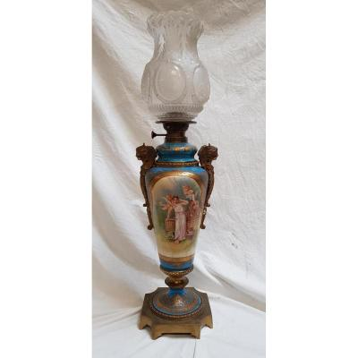 Sevres 1844 Signed Lamp