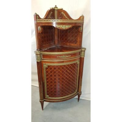 Angle Cabinet In The Louis XVI Style End XIX.