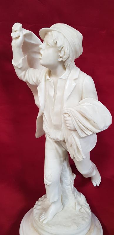 Gavroche Sculpture Marbre  -photo-4