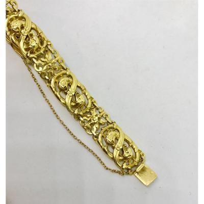 Bracelet Art Nouveau En Or