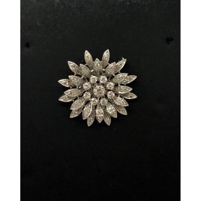 Broche Pendentif  Or  Diamants