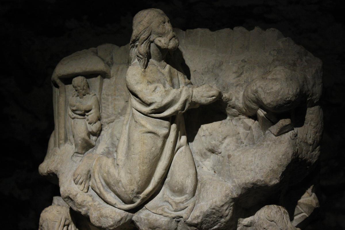Bas-relief En Pierre Sculpté, XVeme, Bourgogne