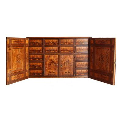 Cabinet En Marqueterie, Augsbourg, XVIIeme Siècle