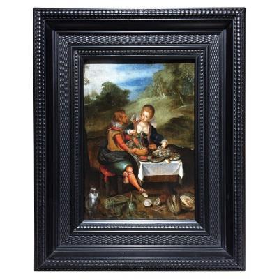 Le Festin, Louis De Caullery (atelier) XVIIe siecle