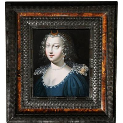 Portrait d'Anne d'Autriche En Diane, Attribué à Claude Deruet (1588 - 1660)
