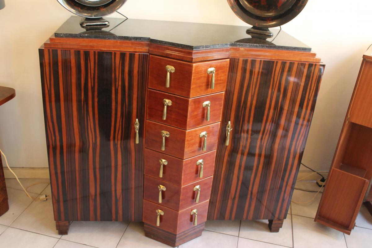 Buffet Art Deco Macassar Ebony And From Mahogany (categories ...