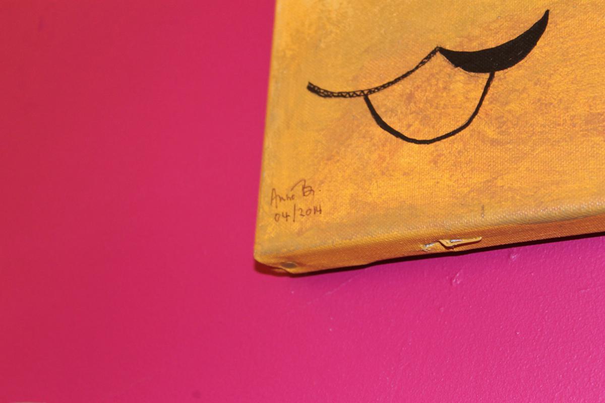 Tableau Acrylique Sur Toile Signé Anne Bastin -photo-2