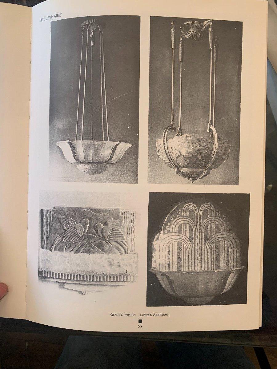 Paire d'Appliques De Coin Art Deco Genet Et Michon (cat: Applique Art Déco 1930) -photo-6