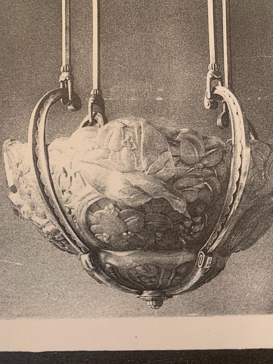 Paire d'Appliques De Coin Art Deco Genet Et Michon (cat: Applique Art Déco 1930) -photo-7
