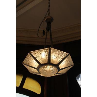Lustre Art Deco G. Leleu (catégorie: lustres)