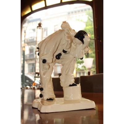 Cracked Art Deco Representative A Pierrot (cat: Ceramic Art Deco 1930)