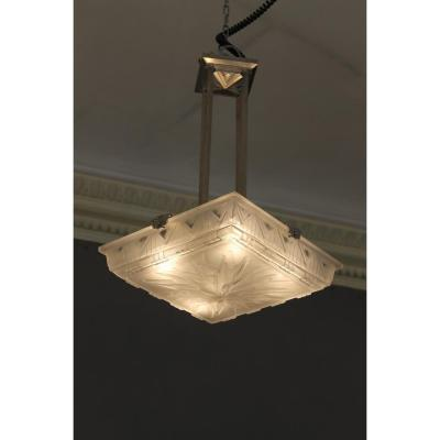 Lustre-suspension Art Deco Müller Frères Lunéville (cat: Plafonnier Art Déco 1930)