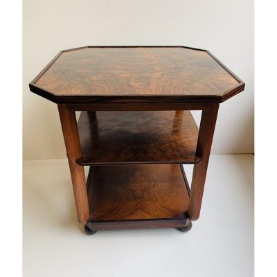 Table Basse - Guéridon Art Deco Ecole d'Amsterdam (cat : Tables Art Déco 1930)