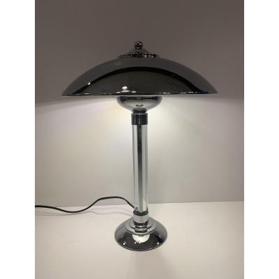 Grande Lampe Art Déco Moderniste à Baguettes De Verre {d'après Petitot } ( Art Deco 1930 )