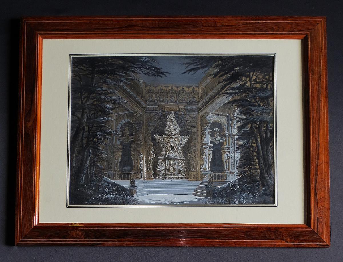 Porte De Temple Hindouiste, XIXe Siècle.