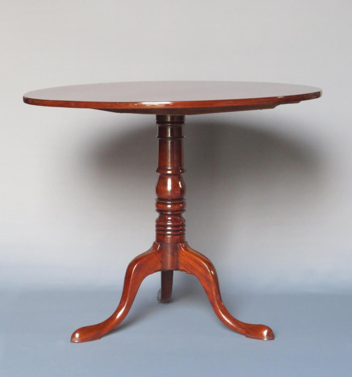 Pedestal Table In Mahogany, Empire Period.