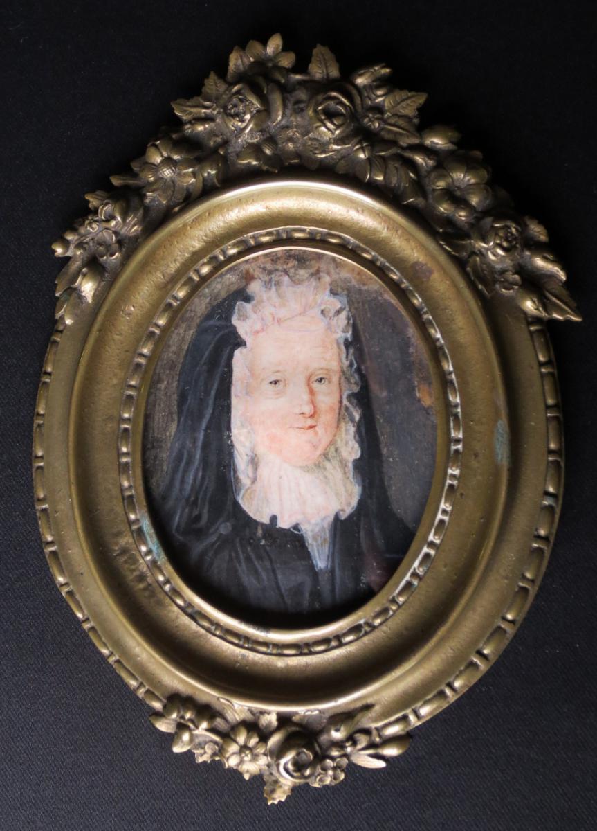 Miniature Sur Papier XVIIIe Siècle