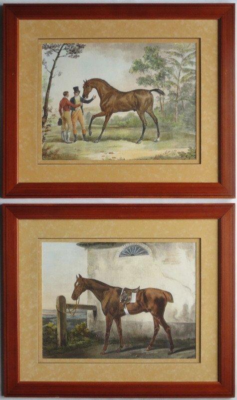 Pair Of Engravings By Jazet After Carle Vernet.