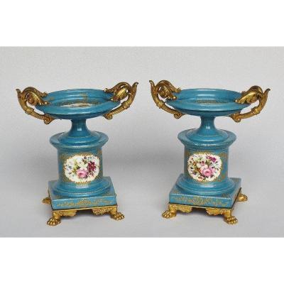 Cassolettes En Porcelaine, Attribuées à Jacob Petit.