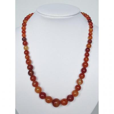 Agate Beads Necklace.