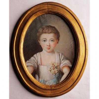 Portrait Of Éléonore, Pastel From The Louis XV Period.