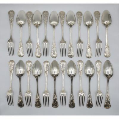 Series Of Twelve Solid Silver Cutlery.