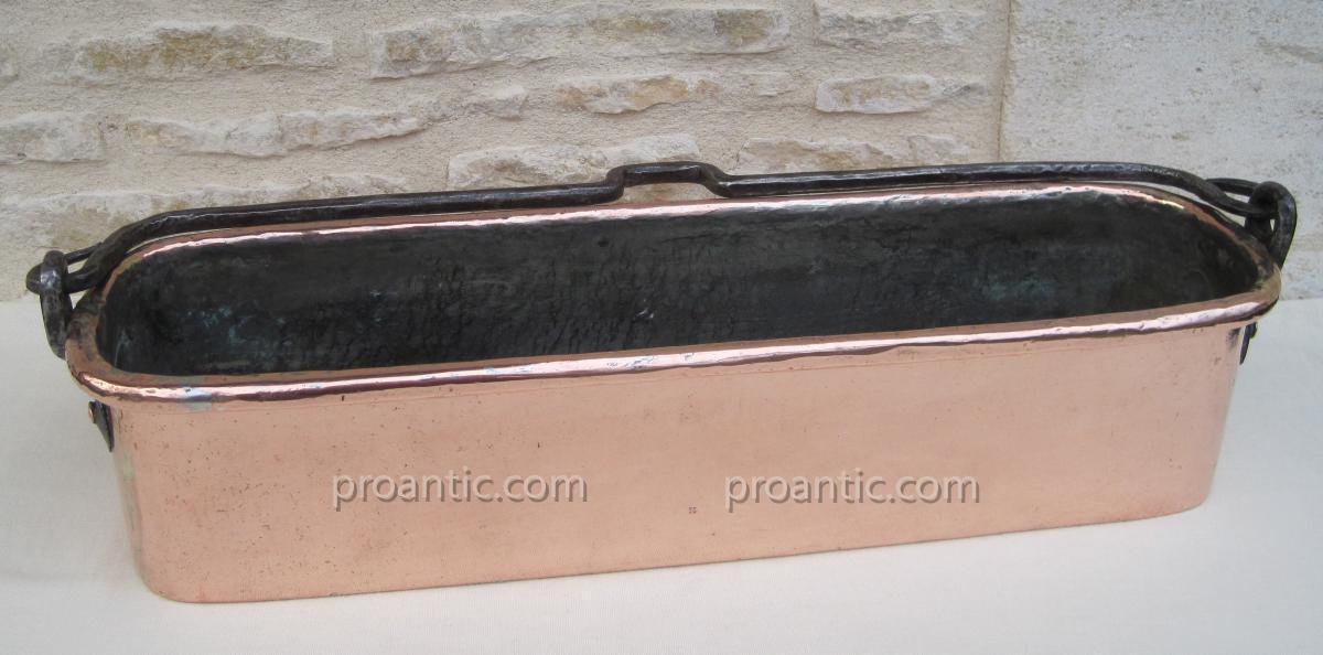 Poissonnière en cuivre. XVIIIe s.-photo-2