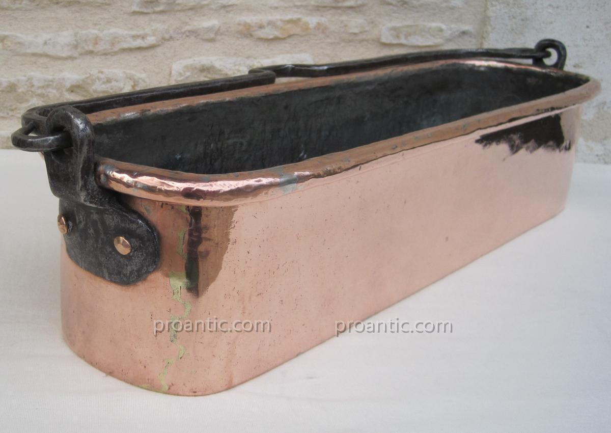 Poissonnière en cuivre. XVIIIe s.-photo-3