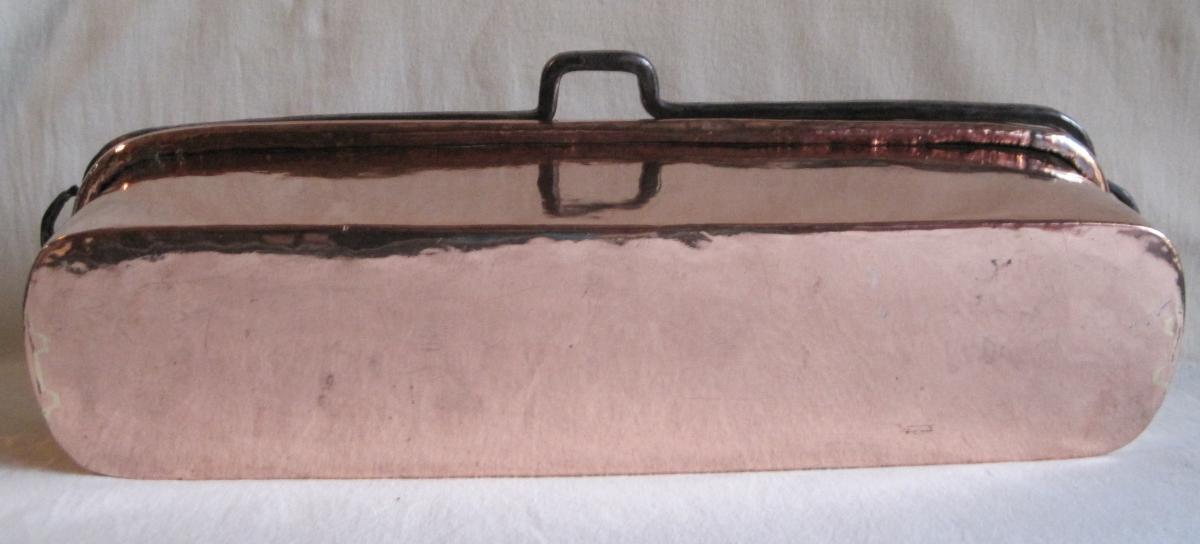 Poissonnière en cuivre. XVIIIe s.-photo-1