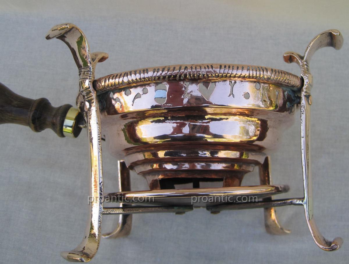 Réchaud de table, à braise, en cuivre. XVIIIe s.-photo-3