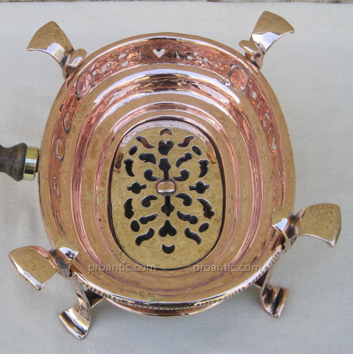 Réchaud de table, à braise, en cuivre. XVIIIe s.-photo-4