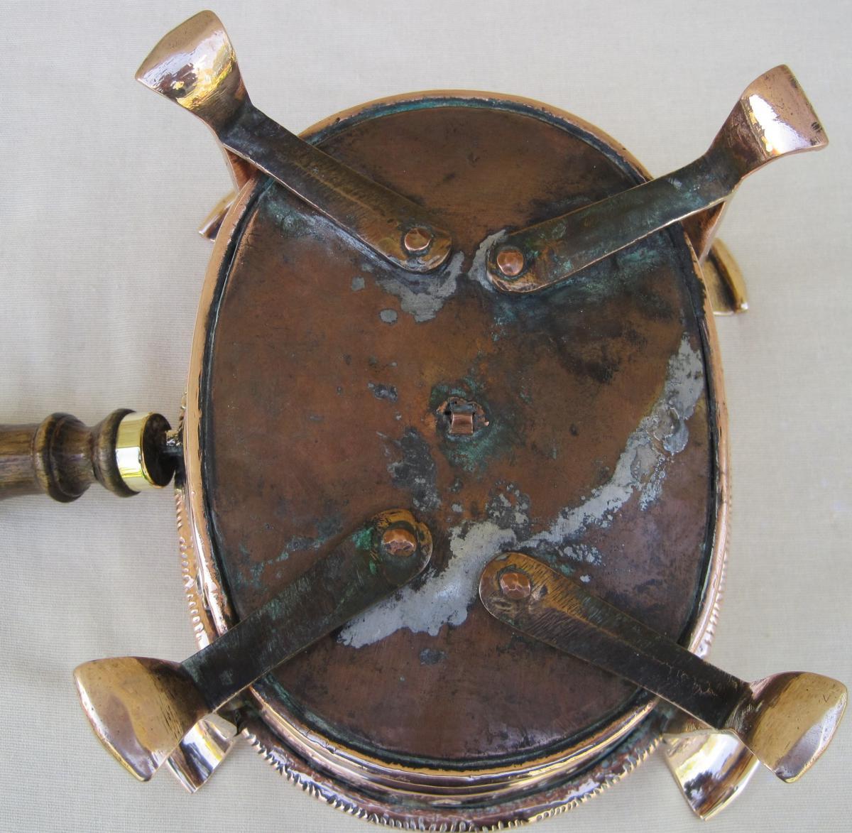 Réchaud de table, à braise, en cuivre. XVIIIe s.-photo-6