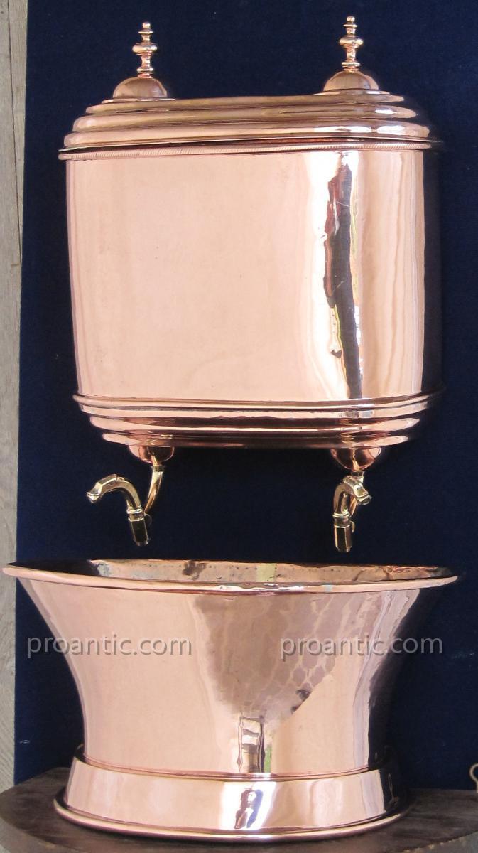 Fontaine murale en cuivre xviiie s objets de d coration for Decoration murale cuivre