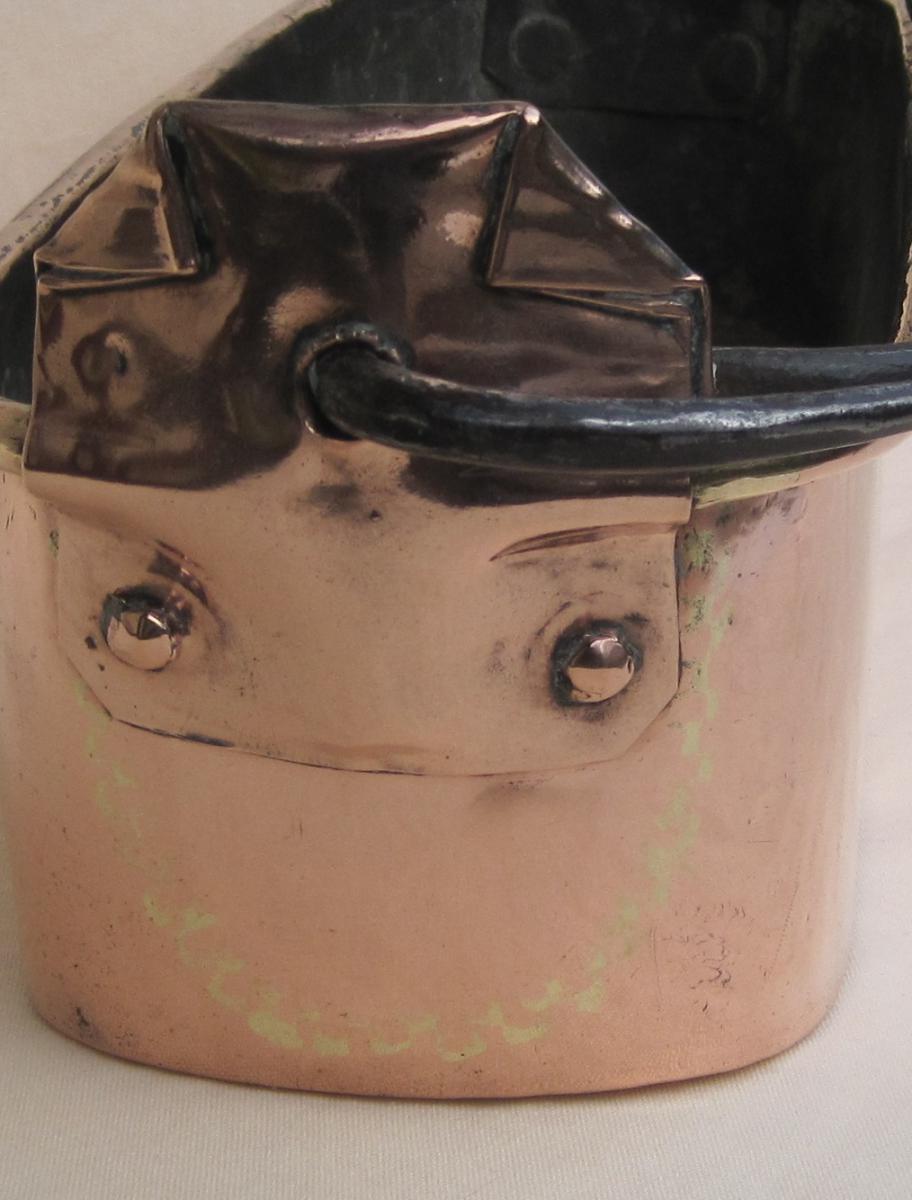 Poissonnière en cuivre. Poinçon HAMEL à RENNES. XVIIIe s.-photo-1