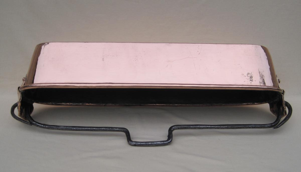 Poissonnière en cuivre. Poinçon HAMEL à RENNES. XVIIIe s.-photo-5