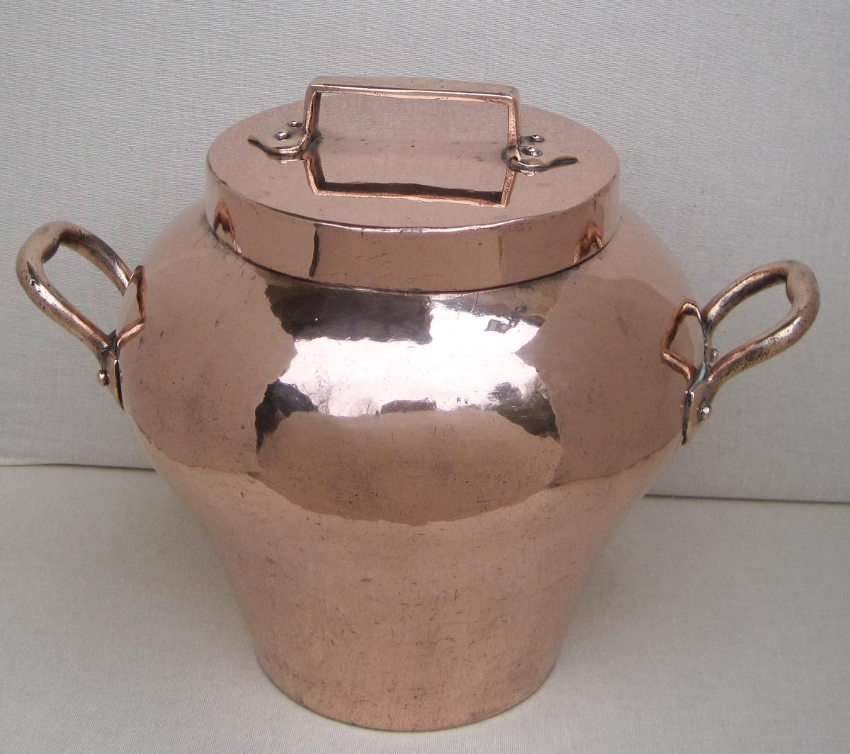 Pot à cuire, en cuivre. XIXe s.