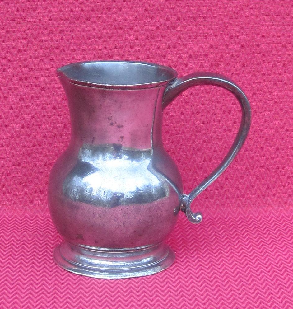 Water Pot, Tin. J. Dusaussois In Paris. Eighteenth Century