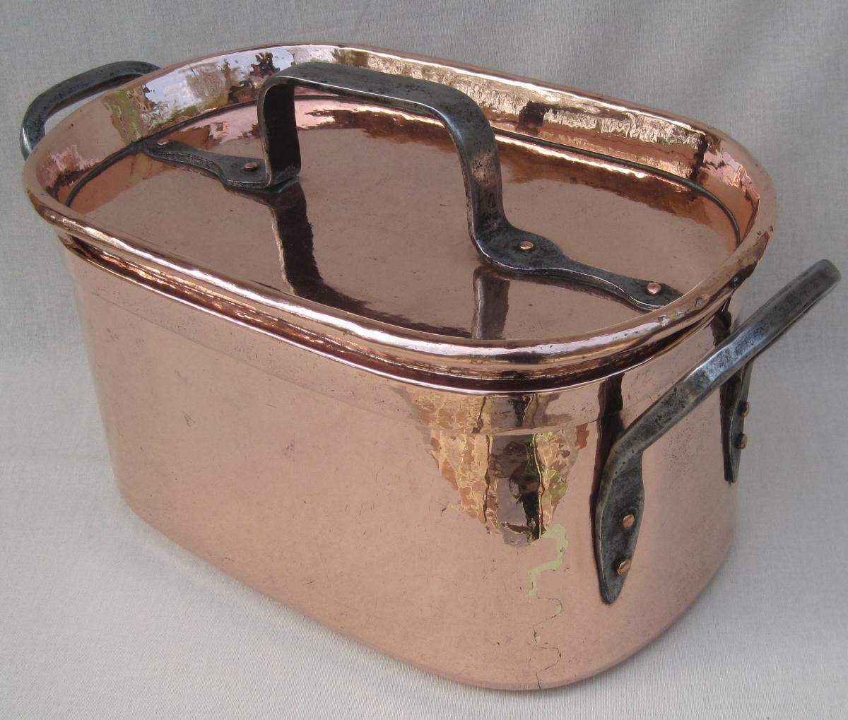 Importante Daubière Braisière, en cuivre. 53 cm. XVIIIe s.-photo-4