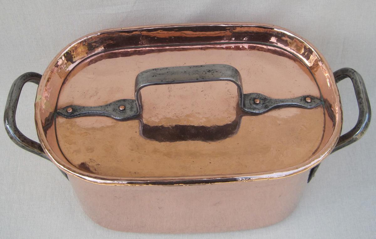 Importante Daubière Braisière, en cuivre. 53 cm. XVIIIe s.-photo-1