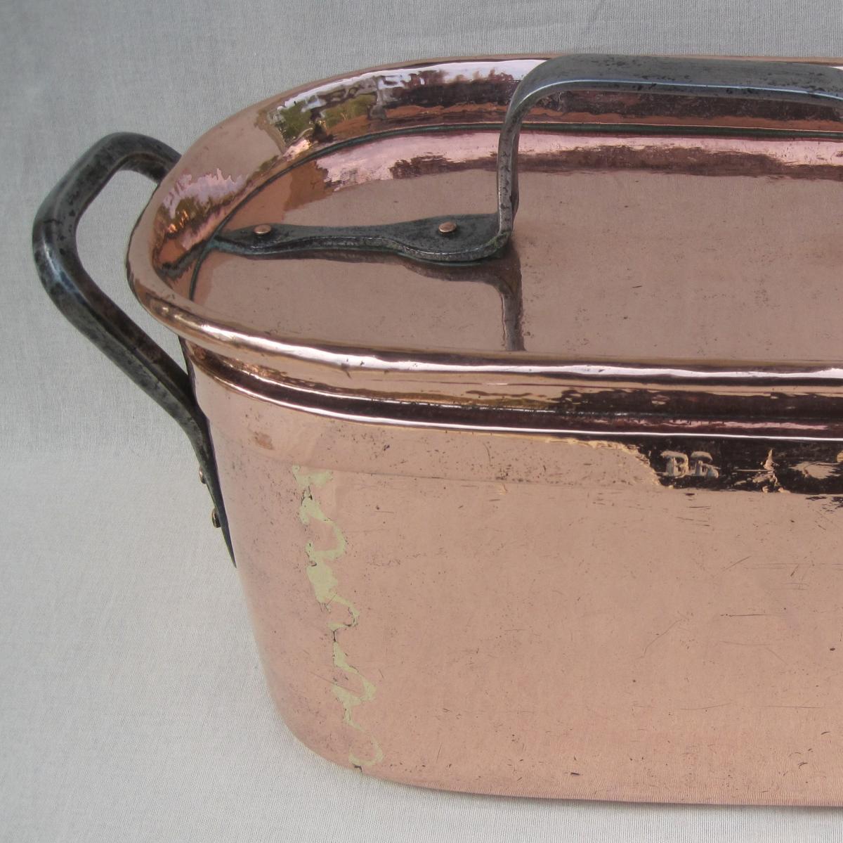 Importante Daubière Braisière, en cuivre. 53 cm. XVIIIe s.-photo-2