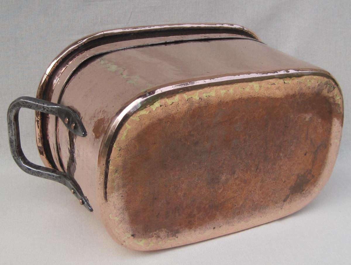 Importante Daubière Braisière, en cuivre. 53 cm. XVIIIe s.-photo-5