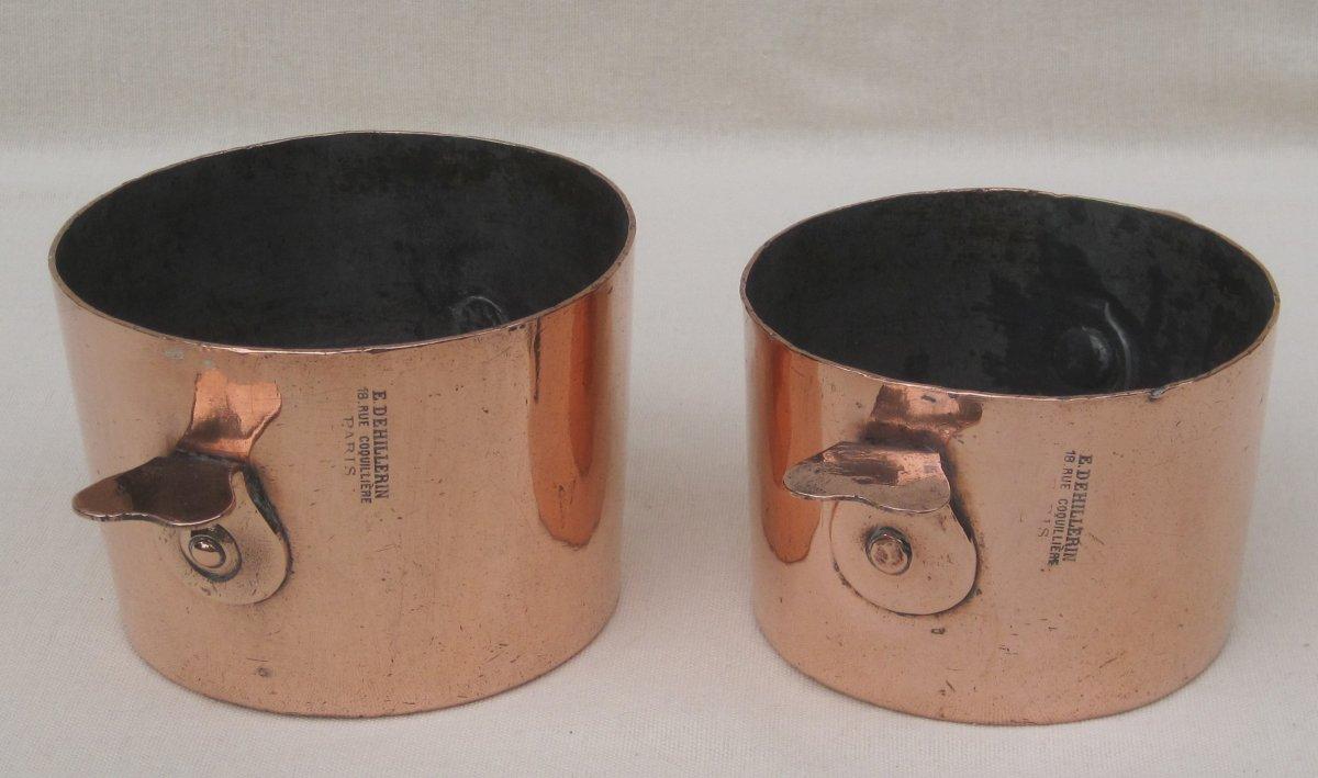 2 moules à Charlotte, en cuivre. DEHILLERIN. XIXe s.