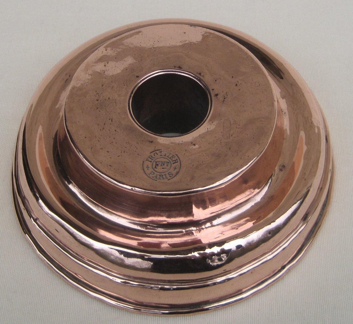Moule pour socle de pièce-montée, en cuivre. TROTTIER.  Deuxième moitié du XIXe s.