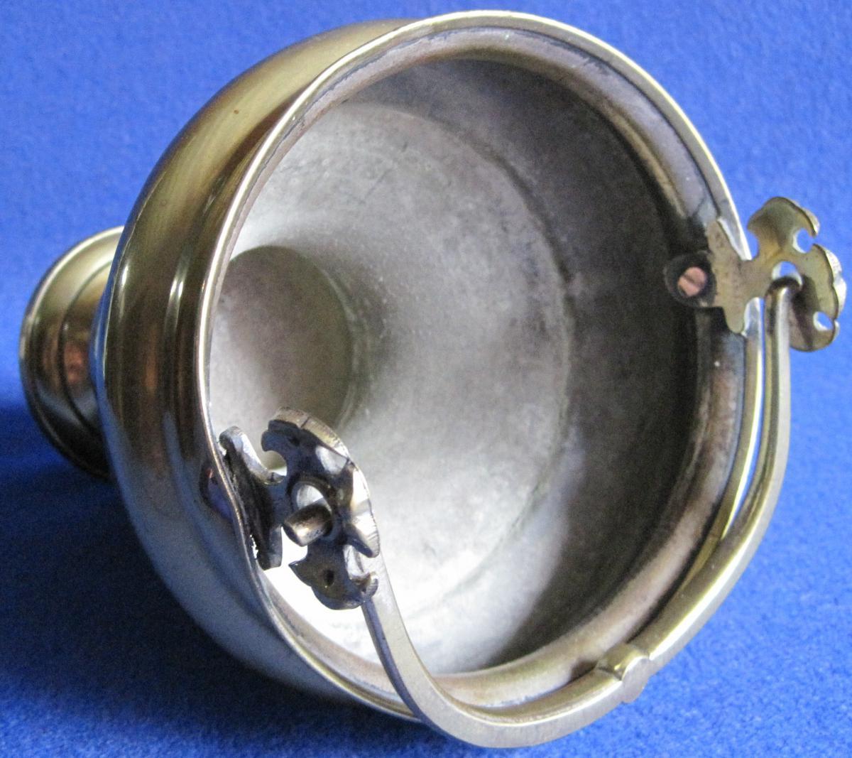 Seau en laiton, à eau bénite. Début XIXe s.-photo-1