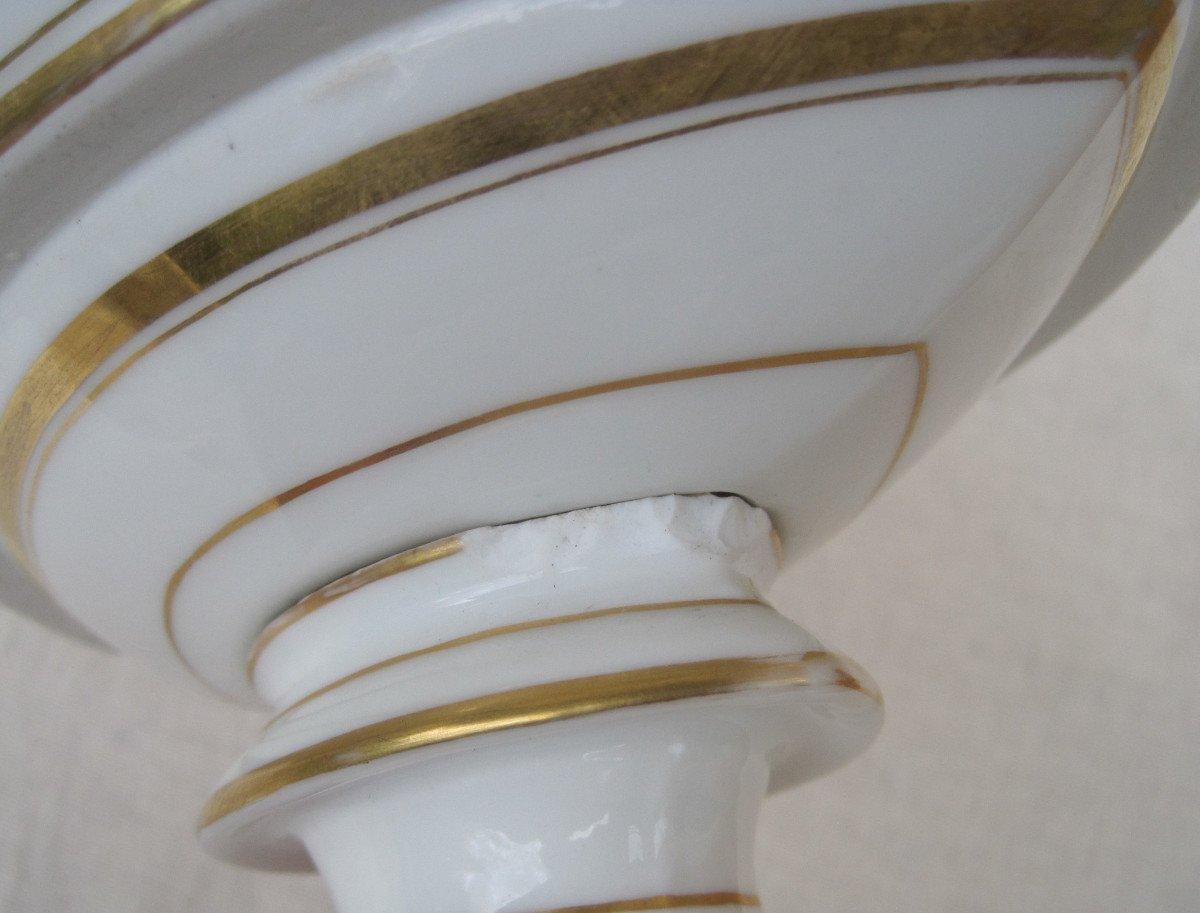 Importante Coupe forme corbeille, ajourée en porcelaine de PARIS. XIXe s.-photo-4