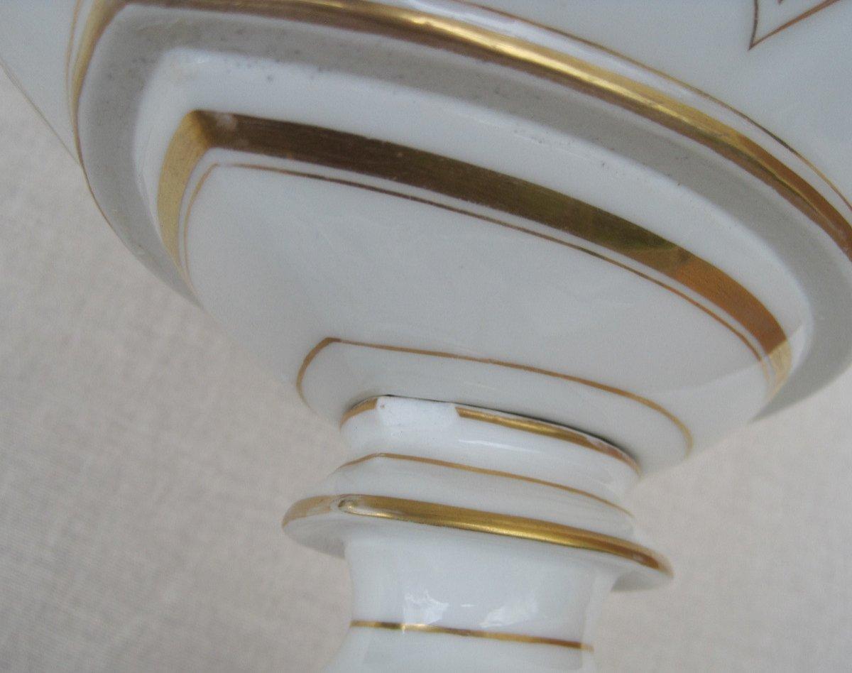 Importante Coupe forme corbeille, ajourée en porcelaine de PARIS. XIXe s.-photo-1